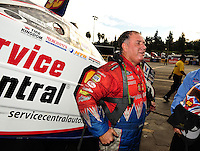 Nov. 13, 2011; Pomona, CA, USA; NHRA funny car driver Johnny Gray during the Auto Club Finals at Auto Club Raceway at Pomona. Mandatory Credit: Mark J. Rebilas-.