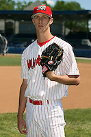 June 30th, 2007:  Clayton Mortensen of the Batavia Muckdogs, Short-Season Class-A affiliate of the St. Louis Cardinals at Dwyer Stadium in Batavia, NY.  Photo by:  Mike Janes/Four Seam Images