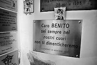 Predappio,in provincia di Forlì Cesena, Italia, paese natale di Benito Mussolini