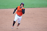 FCL Orioles Orange Ricardo Rivera (17) running the bases during a game against the FCL Pirates Gold on August 9, 2021 at Ed Smith Stadium in Sarasota, Florida.  (Mike Janes/Four Seam Images)