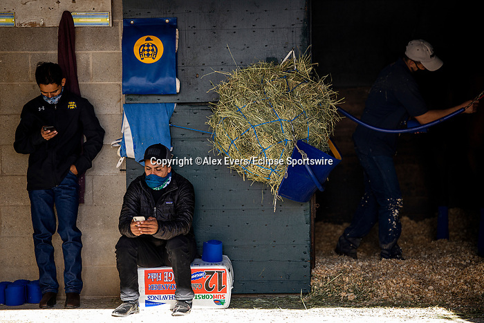 November 4, 2020: Scenes from Breeders Cup Workouts at Keeneland Racetrack in Lexington, Kentucky on November 4, 2020. Alex Evers/Eclipse Sportswire/Breeders Cup