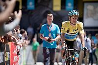 Jakob Fuglsang (DEN/Astana)<br /> <br /> Stage 8: Cluses (FRA) to Champéry (SUI)(113km)<br /> 71st Critérium du Dauphiné 2019 (2.UWT)<br /> <br /> ©kramon