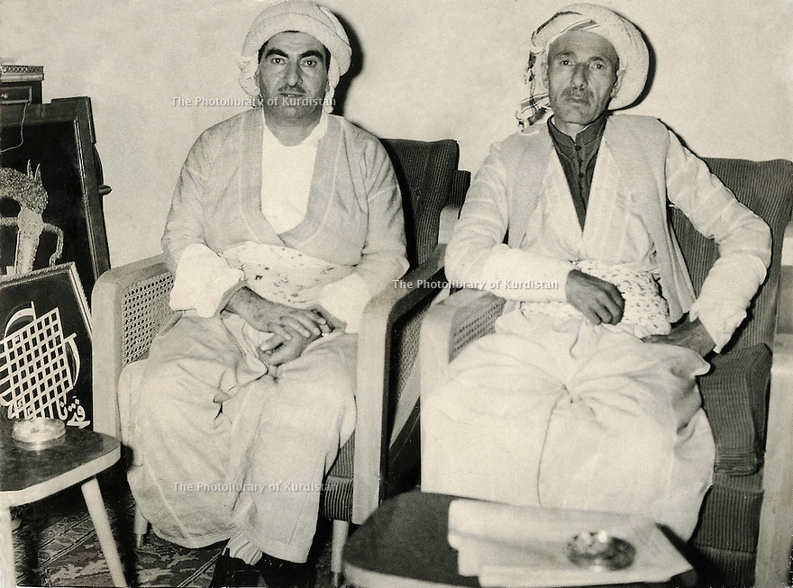 Iraq 1958.Mustafa Barzani coming back from USSR with his brother, sheikh Ahmed