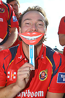 Graham Napier of Essex poses with a comedy smile ahead of the press call - Essex County Cricket Club Press Day at the Essex County Ground, Chelmsford, Essex - 02/04/13 - MANDATORY CREDIT: Gavin Ellis/TGSPHOTO - Self billing applies where appropriate - 0845 094 6026 - contact@tgsphoto.co.uk - NO UNPAID USE.