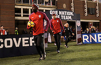 Chattanooga, TN - February 3, 2017: The U.S. Men's National team take on Jamaica in an international friendly match at Finley Stadium.