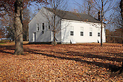 Smith Corner Meetinghouse during the autumn months. Located in Gilmanton,  New Hampshire USA...This meeting house is listed on the National Register of Historical Places.