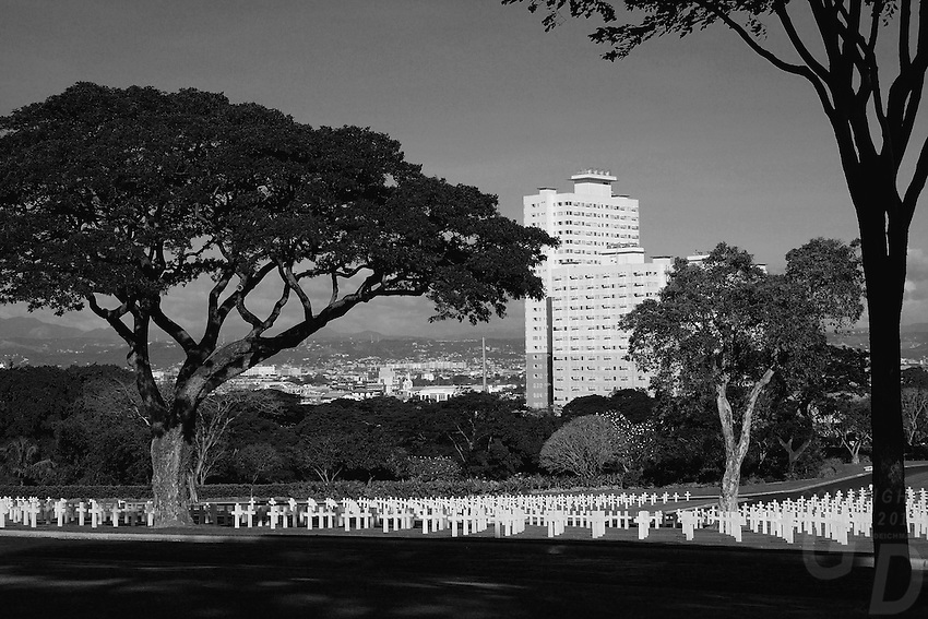 American Cemetery with view towards Fort Bonifacio, Manila, Philippines