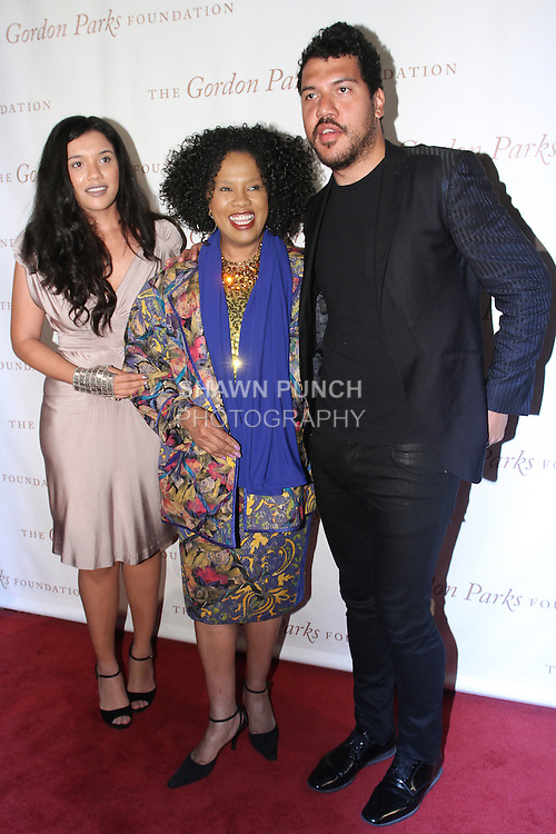 (L-R) Vanessa Bronfman, Sherry Bronfman and Benjamin Bronfman arrive at the Gordon Parks Foundation 2014 Award Dinner and Auction on June 3, 2014 at Cipriani Wall Street, located on 55 Wall Street.