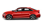 Car driver side profile view of a 2017 Audi RS 3 Base 4 Door Sedan