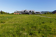 The Appalachian Mountain Club's Highland Center located at the start of Crawford Notch in the White Mountains, New Hampshire. The Highland Center occupies the site of the historic Crawford House.