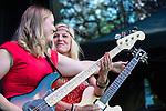 Hedvig Mollestad at Robson Square June 22, TD Vancouver International Jazz Festival