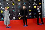 53 FESTIVAL INTERNACIONAL DE CINEMA FANTASTIC DE CATALUNYA. SITGES 2020.<br /> Red Carpet Gala Inauguracion.<br /> Maria del Puy, Borja Crespo & David Matamoros.