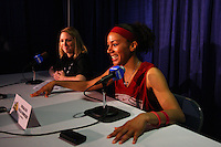 7 April 2008: Stanford Cardinal Rosalyn Gold-Onwude during Stanford's press conference for the 2008 NCAA Division I Women's Basketball Final Four championship game at the St. Pete Times Forum Arena in Tampa Bay, FL.