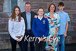 Anna Ní Chonchúir former student of Clochar Daingean NS in Dingle at her Confirmation in St Marys Church Dingle on Friday, l to r: Sarah, Luke, Anna, Normán and Aimee Ní Chonchúir.