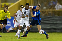 SAN SALVADOR, EL SALVADOR - SEPTEMBER 2: Jordan Pefok #19 of the United States during a game between El Salvador and USMNT at Estadio Cuscatlán on September 2, 2021 in San Salvador, El Salvador.