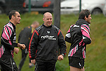 Strength and Conditioning Coach Mark Bennett during the Ospreys rugby training session today at Llandarcy Academy of Sport near Neath ahead of their Heineken Cup game with Viadana this coming weekend.