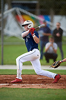 Austin Elliott (4) while playing for Tri-State Arsenal Prime based out of Voorhees, New Jersey during the WWBA World Championship at the Roger Dean Complex on October 21, 2017 in Jupiter, Florida.  Austin Elliott is a pitcher / outfielder from Milton, Delaware who attends Cape Henlopen High School.  (Mike Janes/Four Seam Images)