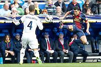 MADRI, ESPANHA, 02 MARÇO 2013 - CAMPEONATO ESPANHOL - REAL MADRID X BARCELONA - Pedro (D)  jogador do Barcelona em partida contra o Real Madrid em partida pela 26 rodada do Campeonato Espanhol, neste sabado, 02. (FOTO: ALEX CID-FUENTES / ALFAQUI / BRAZIL PHOTO PRESS).