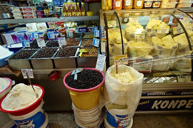 Vegetable market of the shops of the Bazaar of Konya, Turkey