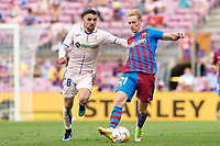29th August 2021; Nou Camp, Barcelona, Spain; La Liga football league, FC Barcelona versus Getafe; Frenkie De Jong of FC Barcelona challenges Mauro Arambarri of Getafe CF