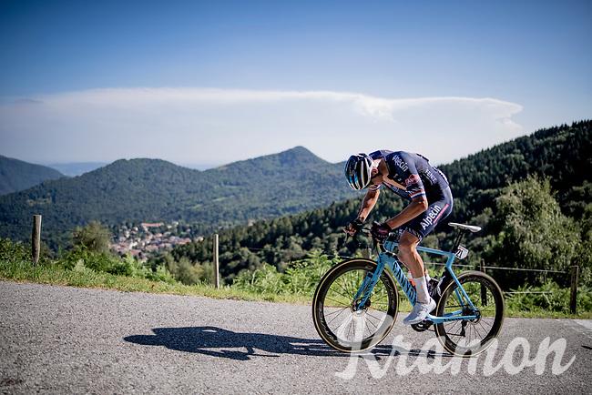 Mathieu Van der Poel (NED/Alpecin-Fenix) fighting up the brutal Muro di Sormano (avg 17%/max 25%)<br /> <br /> 114th Il Lombardia 2020 (1.UWT)<br /> 1 day race from Bergamo to Como (ITA/231km) <br /> <br /> ©kramon