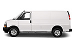 Car Driver side profile view of a 2020 Chevrolet Express-Cargo WT 4 Door Cargo Van Side View