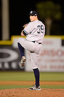 Tampa Yankees pitcher Sean Black #39 during a game against the Dunedin Blue Jays on April 11, 2013 at Florida Auto Exchange Stadium in Dunedin, Florida.  Dunedin defeated Tampa 3-2 in 11 innings.  (Mike Janes/Four Seam Images)