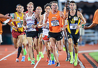 May 25, 2013: Ryan Herson of Arizona State #87, Thomas Farrell of Oklahoma State #904, lead the starting laps of 5000 meters quarterfinal during NCAA Outdoor Track & Field Championships West Preliminary at Mike A. Myers Stadium in Austin, TX.