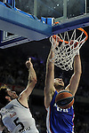 Real Madrid´s Rudy Fernandez and Anadolu Efes´s Nenad Krstic during 2014-15 Euroleague Basketball Playoffs second match between Real Madrid and Anadolu Efes at Palacio de los Deportes stadium in Madrid, Spain. April 17, 2015. (ALTERPHOTOS/Luis Fernandez)