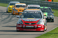 Round 2 of the 2005 British Touring Car Championship. #10. James Kaye (GBR). Synchro Motorsport. Honda Civic Type-R.