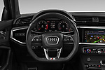 Car pictures of steering wheel view of a 2020 Audi Q3-Sportsback S-Line 5 Door SUV Steering Wheel