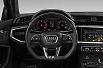 Car pictures of steering wheel view of a 2020 Audi Q3-Sportsback S-Line 5 Door SUV Steering Wheel