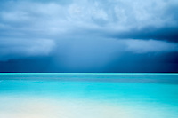 Storm clouds over ocean at Turks and Caicos.