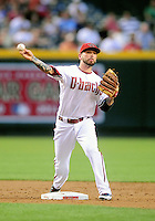 May 27, 2009; Phoenix, AZ, USA; Arizona Diamondbacks infielder Ryan Roberts against the San Diego Padres at Chase Field. Mandatory Credit: Mark J. Rebilas-