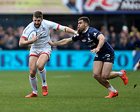 11 January 2020; Stuart McClskey of Ulster in action against Damian Penaud of Clermont during the Heineken Champions Cup Pool 3 Round 5 match between ASM Clermont Auvergne and Ulster at Stade Marcel-Michelin in Clermont-Ferrand, France. Photo by John Dickson/DICKSONDIGITAL
