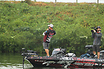 August 11, 2019: Bryan Thrift on the final day on the water of the Forrest Wood Cup on Lake Hamilton in Hot Springs, Arkansas. ©Justin Manning/Eclipse Sportswire/CSM