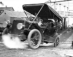 Pittsburgh PA:  Brady Stewart's 1906 Buick exiting the Ferry from Pittsburgh to Allegheny City.