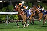 WAN CHAI,HONG KONG-DECEMBER 07: Premiere,ridden by Hugh Bowman,wins the 1st leg of LONGINES International Jockeys' Championship at Happy Valley Racecourse on December 7,2016 in Wan Chai,Hong Kong (Photo by Kaz Ishida/Eclipse Sportswire/Getty Images)