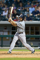 Blake Swihart (2) of the Pawtucket Red Sox follows through on his swing against the Charlotte Knights at BB&T Ballpark on August 9, 2014 in Charlotte, North Carolina.  The Red Sox defeated the Knights  5-2.  (Brian Westerholt/Four Seam Images)