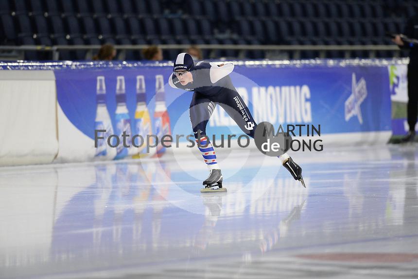 SCHAATSEN: HEERENVEEN: 10-10-2020, KNSB Trainingswedstrijd, Klaas Meekma, ©foto Martin de Jong