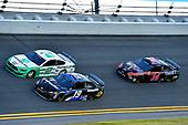 #19: Martin Truex Jr., Joe Gibbs Racing, Toyota Camry SiriusXM, #2: Brad Keselowski, Team Penske, Ford Mustang MoneyLion, and #14: Clint Bowyer, Stewart-Haas Racing, Ford Mustang Mobil 1