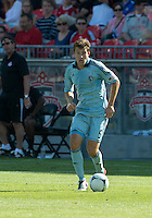August 18, 2012: Sporting KC defender Matt Besler #5 in action during an MLS game between Toronto FC and Sporting Kansas City at BMO Field in Toronto, Ontario Canada..Sporting Kansas City won 1-0.