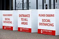 21st November 2020; The Den, Bermondsey, London, England; English Championship Football, Millwall Football Club versus Cardiff City; Social Distance Barriers for football fans outside The Den Stadium