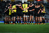 The All Blacks huddle before the Bledisloe Cup rugby match between the New Zealand All Blacks and Australia Wallabies at Eden Park in Auckland, New Zealand on Saturday, 14 August 2021. Photo: Simon Watts / lintottphoto.co.nz / bwmedia.co.nz
