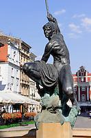 Brunnen am alten Marktplatz (Stary Rynek) in Posnan (Posen), Woiwodschaft Großpolen (Województwo wielkopolskie), Polen Europa<br /> Fountain at Old Market Place (Stary Rynek) in Pozan, Poland, Europe
