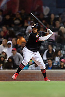 El Paso Chihuahuas right fielder Josh Naylor (27) during a Pacific Coast League game against the Albuquerque Isotopes at Southwest University Park on May 10, 2019 in El Paso, Texas. Albuquerque defeated El Paso 2-1. (Zachary Lucy/Four Seam Images)