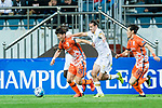 Jeju United Midfielder Moon Sangyun (L) fights for the ball with Adelaide United Defender Michael Marrone (R) during the AFC Champions League 2017 Group Stage - Group H match between Jeju United FC (KOR) vs Adelaide United (AUS) at the Jeju World Cup Stadium on 11 April 2017 in Jeju, South Korea. Photo by Marcio Rodrigo Machado / Power Sport Images