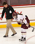 Aaron Clark (BC - Athletic Trainer), Erin Connolly (BC - 15) - The Boston College Eagles defeated the visiting Boston University Terriers 5-3 (EN) on Friday, November 4, 2016, at Kelley Rink in Conte Forum in Chestnut Hill, Massachusetts.The Boston College Eagles defeated the visiting Boston University Terriers 5-3 (EN) on Friday, November 4, 2016, at Kelley Rink in Conte Forum in Chestnut Hill, Massachusetts.