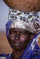 Woman with Calabash on Head, Boubon, near Niamey, Niger.
