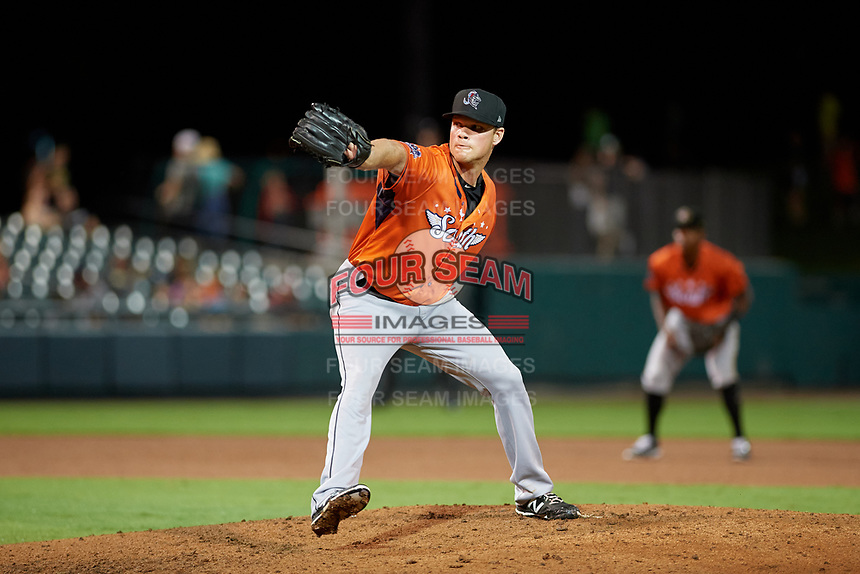 Jupiter Hammerheads pitcher Jeff Kinley (47) during the Florida State League All-Star Game on June 17, 2017 at Joker Marchant Stadium in Lakeland, Florida.  FSL North All-Stars defeated the FSL South All-Stars  5-2.  (Mike Janes/Four Seam Images)